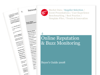 Cover for Online Reputation and Buzz Monitoring Buyer's Guide 2008