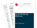 Cover for Email Marketing Platforms Buyer's Guide 2008