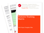 Cover for Features Tracking Matrix - Web Project Template Files