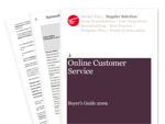 Cover for Online Customer Service Buyer's Guide 2009