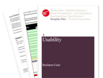Cover for Usability & User Experience Business Case