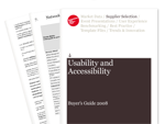 Cover for Usability and Accessibility Buyer's Guide 2008