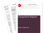 Cover for Comparison Engines Buyer's Guide 2008