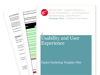 Cover for Usability and User Experience – Digital Marketing Template Files