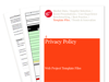 Cover for Privacy Policy - Web Project Template Files