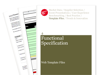Cover for Functional Specification - Web Template Files