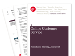 Cover for Online Customer Service Briefing - June 2008