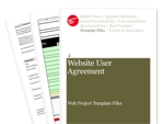 Cover for Website User Agreement - Web Project Template Files