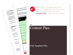 Cover for Content Plan - Web Template Files