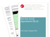 Cover for Service Level Agreement (SLA) - Web Project Template Files