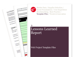 Cover for Lessons Learned Report - Web Project Template Files