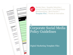 Cover for Corporate Social Media Policy Guidelines - Digital Marketing Template Files