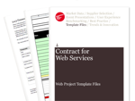Cover for Contract for Web Services - Web Project Template Files