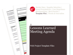Cover for Lessons Learned Meeting Agenda - Web Project Template Files