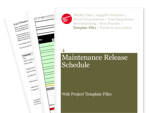 Cover for Maintenance Release Schedule - Web Project Template Files