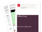 Cover for Defect Log - Web Project Template Files
