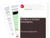 Cover for Product or System Description - Web Project Template Files