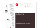 Cover for Online PR Roundtable Briefing - May 2008