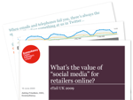 "Cover for What's the value of ""social media"" for retailers online?"