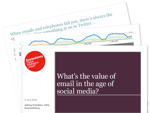 Cover for What's the value of email in the age of social media?