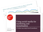 Cover for Using social media for marketing and monetisation - A Twitter case study on Econsultancy.com