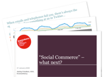 Cover for Future of Social Commerce - Econsultancy Presentation at BazaarVoice Event