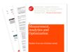 Cover for Measurement, Analytics and Optimization Trends Briefing October 2009