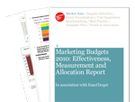 Cover for Marketing Budgets 2010