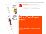 Cover for Value of Social Media Report
