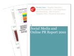 Cover for Social Media and Online PR Report 2010