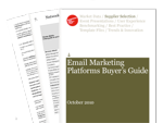Cover for Email Marketing Platforms Buyer's Guide 2010