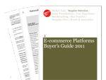 Cover for E-commerce Platforms Buyer's Guide 2011