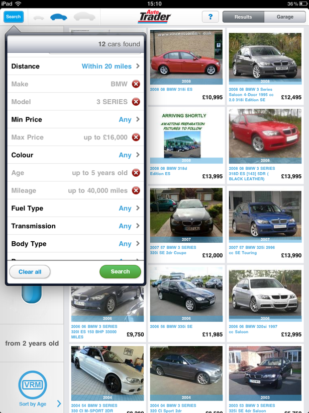 Auto Trader iPad app