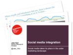 Cover for Social media integration