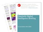 Cover for First Quarterly Digital Intelligence Briefing