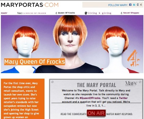 Mary Portas Queen of Frocks Twitterchat
