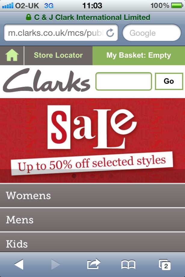 clarks co uk sale