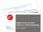 Cover for Digital trends and their impact on content marketing