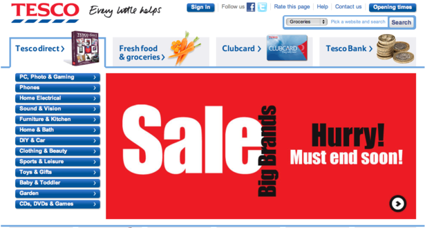 Christmas sales fall at Tesco despite 14% boost in online revenue ...