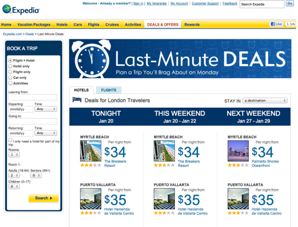 Expedia launches crowdsourced deals - Econsultancy Expedia launches crowdsourced deals - 웹