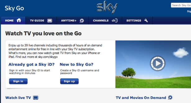 Sky launches new online TV service – Econsultancy
