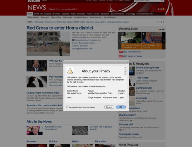 BBC EU cookie law