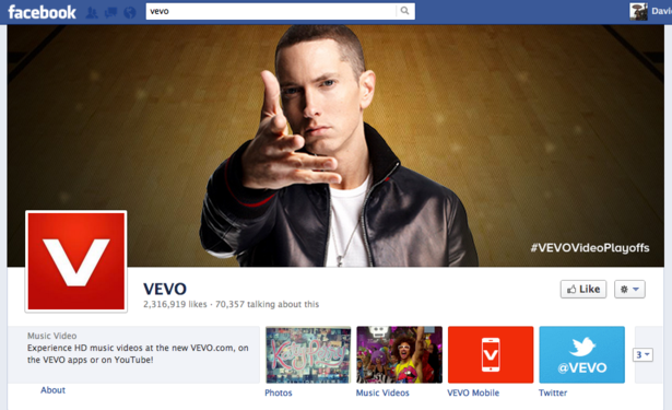 Vevo's UK users streamed 177m music videos in January