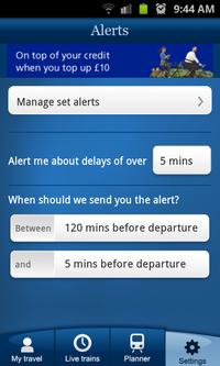 National Rail Enquiries journey planner