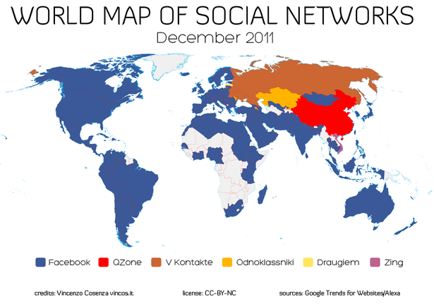 Mapping World Social Media Trends Econsultancy