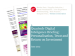 Cover for Quarterly Digital Intelligence Briefing: Personalisation, Trust and Return on Investment