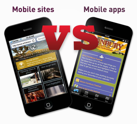 """Mobile sites vs apps – which one do I need for my business?"" blog post image"