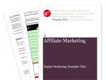 Cover for Developing and Executing an Affiliate Strategy - Digital Marketing Template Files