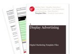Cover for Display Media Plan: Brand Campaign - Digital Marketing Template Files