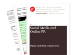 Cover for Social Media and Online PR Strategy Guidelines - Digital Marketing Template Files
